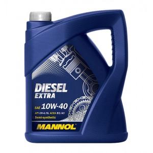 Poolsünteetiline mootoriõli MANNOL Diesel Extra 10W40 5L
