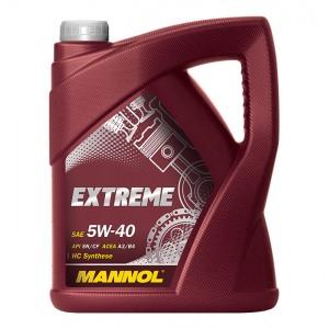 Täissünteetiline mootoriõli MANNOL Extreme 5W40 5L