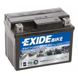 Стартерная аккумуляторная батарея EXIDE AGM12-4