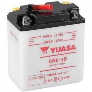 Стартерная аккумуляторная батарея YUASA 6N6-3B