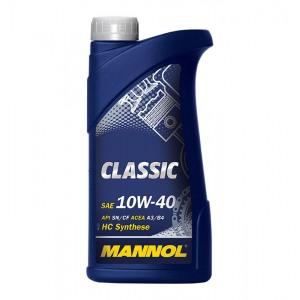 Poolsünteetiline mootoriõli MANNOL Classic 10W40 1L