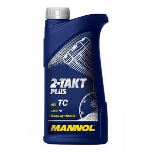 Kahetaktiline poolsünteetiline õli MANNOL Plus 1L API TC