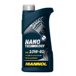 Poolsünteetiline mootoriõli MANNOL Nano Technology 10W40 1L