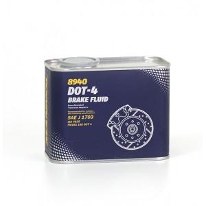 Тормозная жидкость MANNOL DOT-4 500мл