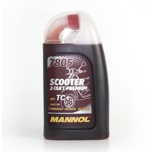 Двухтактное масло MANNOL 7805 Scooter Premium 1L API TC+