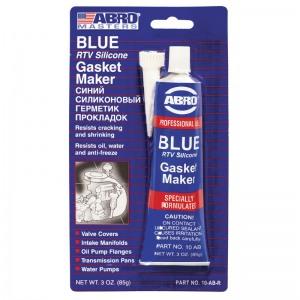 ABRO 10-AB Cиликоновый герметик прокладок (синий) 85гр