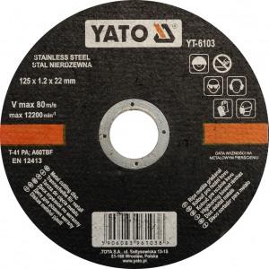 YT-6103 Metallilõikeketas 125*22*1.2mm
