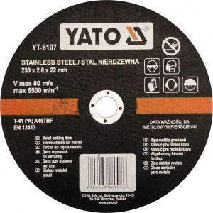 YT-6107 Metallilõikeketas 230*1,9*22mm