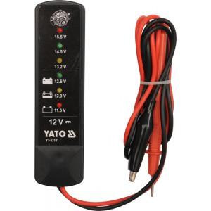 YT-83101 Тестер напряжения аккумуляторов YATO