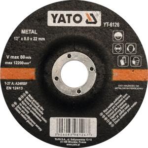 YT-6126 Lõikekettad metallile 125*22*8mm