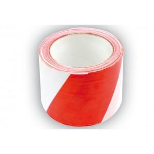 75233 ohutusteip valge-punane/75mm/100m