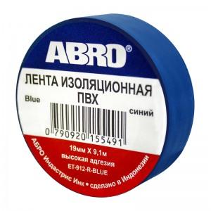 ET-912 Изолента синяя 19мм х 9,1м ABRO