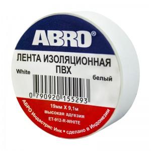 ABRO ET-912 Изолента белая 19мм х 9,1м
