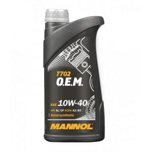 Poolsünteetiline mootoriõli MANNOL 7702 OEM 1L 10W40 OPEL CHEVROLET