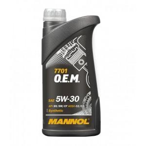 Синтетическое масло MANNOL 7701 OEM 1L 5W30 OPEL CHEVROLET