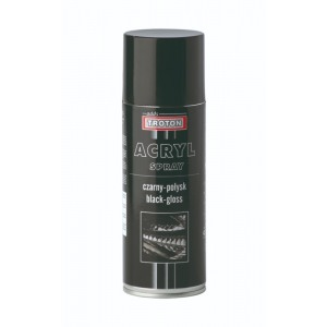 Акриловая спрэй-краска, черная глянец 400мл