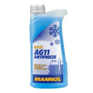 MANNOL JAHUTUSVEDELIK TOSOOL SININE 1L Longterm Antifreeze AG11 -40°C