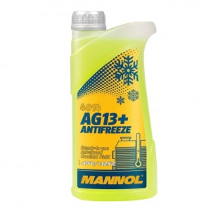 Jahutusvedelik MANNOL AG13+ Antifreeze -40°C 1L, tosool kollane
