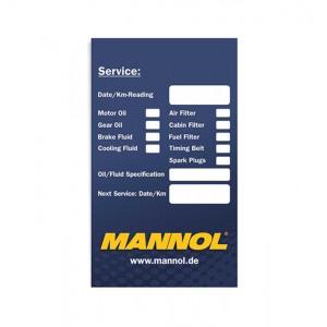 Наклейка при смене масла MANNOL
