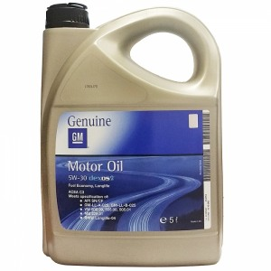 Täissünteetiline õli GM 5W30 DEXOS2 5L