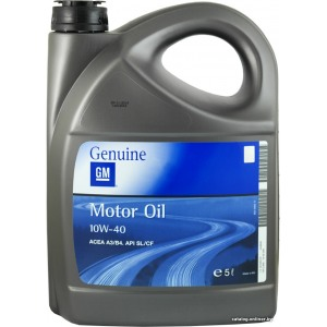 Полусинтетическое масло GM 10W40 MOTOROIL 5L