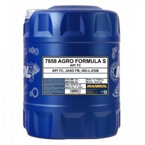 Kahetaktiline poolsünteetiline õli MANNOL Agro Formula S 20L