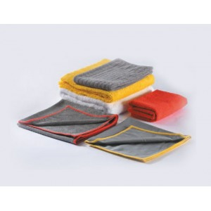 7649 Темно-серая салфетка с красным швом Brayt – общего применения, для полирования и очистки от остатков паст 40 х 60 см