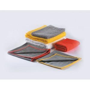 7651 Темно-серая салфетка с желтым швом – для стекол 40 х 40 см Brayt