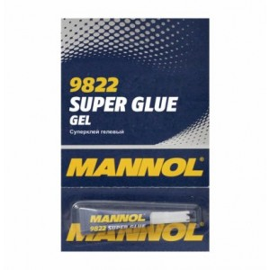 9822 Kiirliim-geel 3ml Gel Super Glue 3ml MANNOL