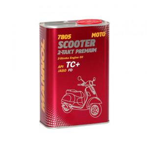 Kahetaktiline õli MANNOL 7805 Scooter Premium 1L API TC+
