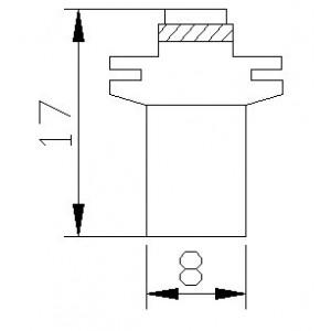 pirn LED MFX 12V/1x5050/BX8,5D/B8,5D